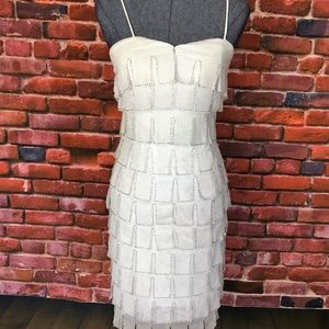 JS Collection White Sequined Dress